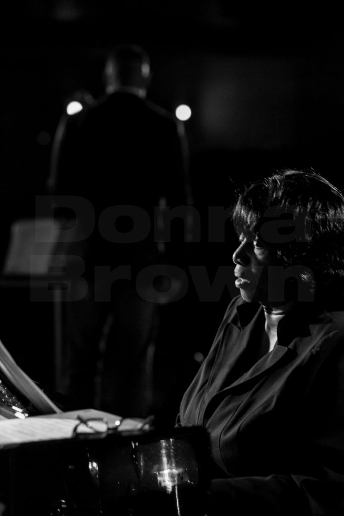 Donna Brown at piano